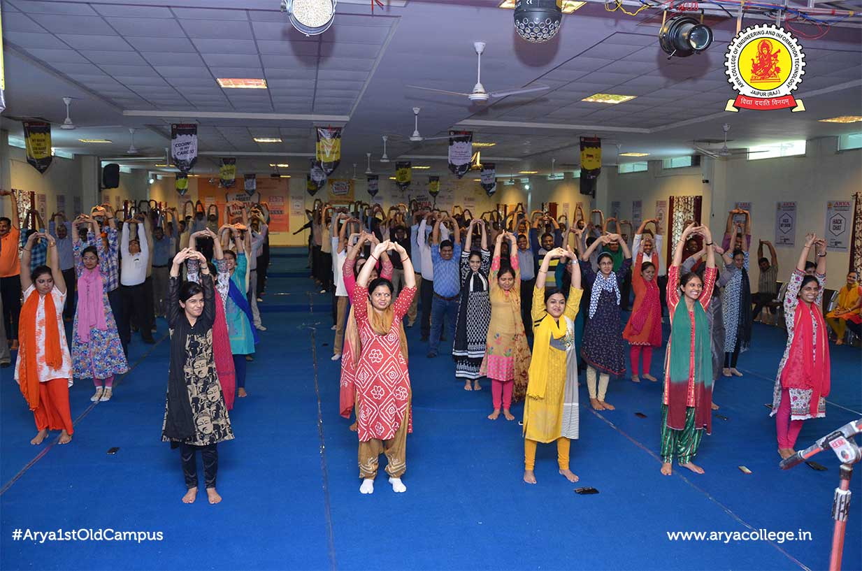 International Yoga Day Celebrated at Arya